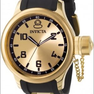 Invicta 1438 Russian Diver Gold Watch